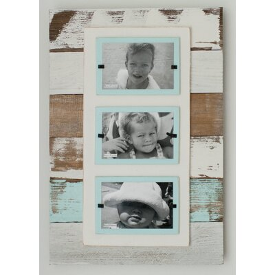 Cape Cod Triple Picture Frame Color: Sea Mist