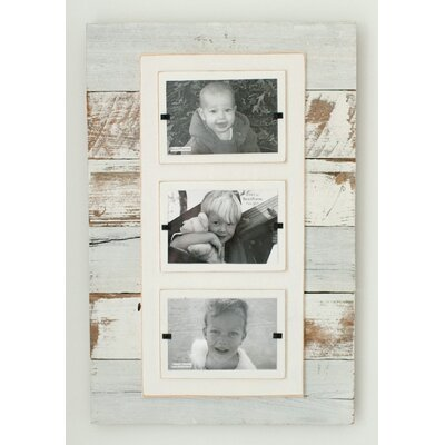 Cape Cod Triple Picture Frame Color: White