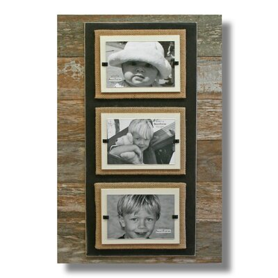 Triple Picture Frame Color: Brown