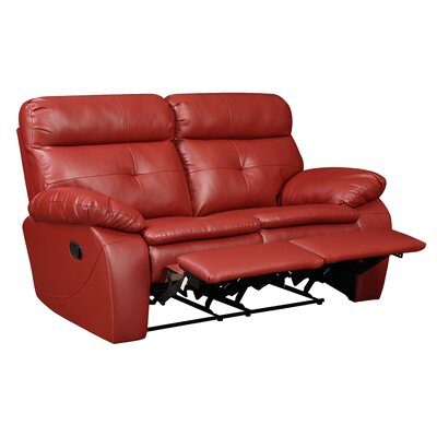 Glory Furniture Motion Reclining Loveseat - Color: Red