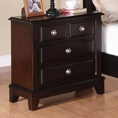 Holzman 3 Drawer Bachelor's Chest Color: Cappuccino
