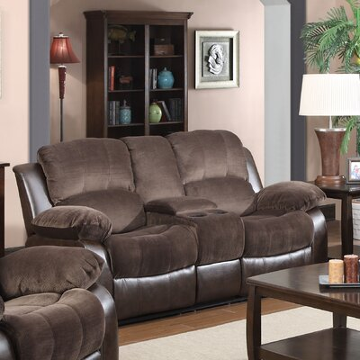 COCO Double Reclining Sofa with Console