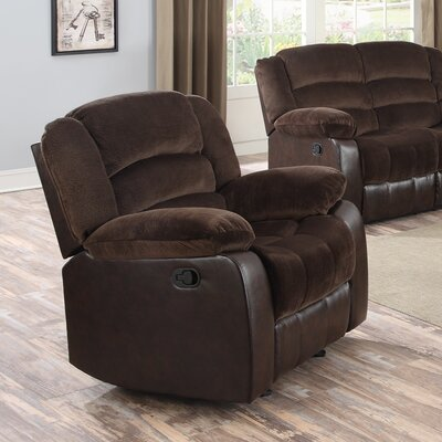 Contour Rocker Recliner Upholstery: Chocolate
