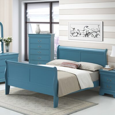 Glory Furniture Sleigh Bed - Size: King, Finish: Teal