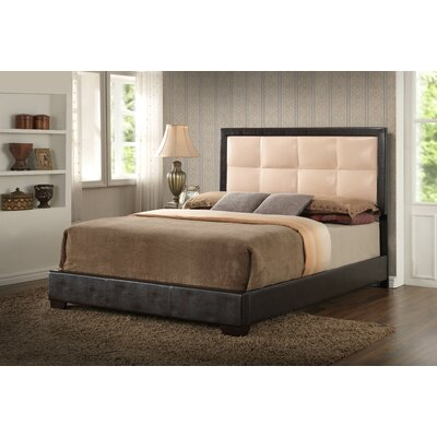 Panel Bed Color: Beige, Size: Queen