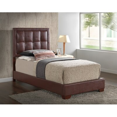 Panel Bed Color: Brown, Size: Twin