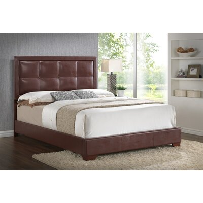 Panel Bed Finish: Brown, Size: King