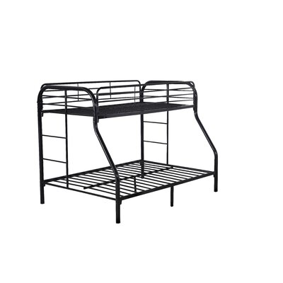 Kilgraston Twin over Full Bunk Bed Color: Black