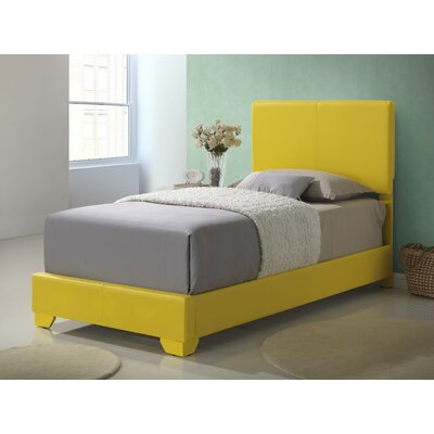 Panel Bed Size: Twin, Upholstery: Yellow