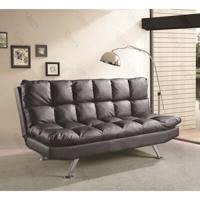 Glory Furniture Astral Sleeper Sofa - Upholstery: Black