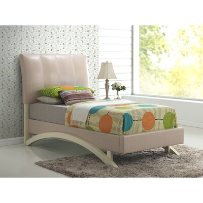 Upholstered Panel Bed Size: King, Finish: Red