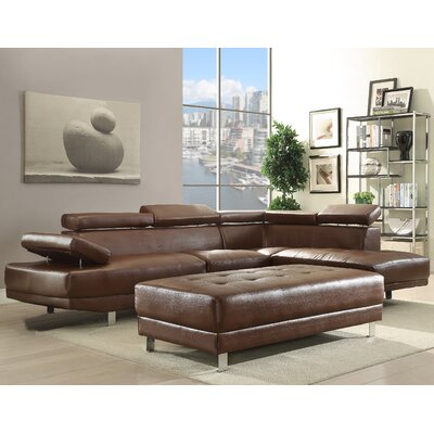Glory Furniture G457-SC Milan Sectional Upholstery -