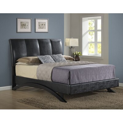 Archer Upholstered Platform Bed Size: Queen, Color: Brown