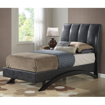 Archer Upholstered Platform Bed Finish: Black, Size: Twin