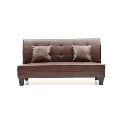Melantha Settee Upholstery: Brown Faux Leather