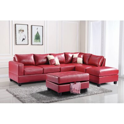 Glory Furniture G309B-SC Bella Sectional Upholstery