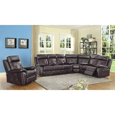G672B-W Glory Furniture Dark Brown Sectionals