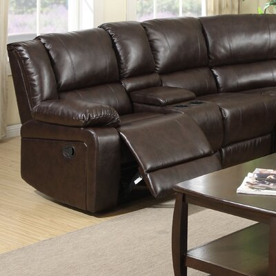 Airo Laf Reclining Loveseat with Console