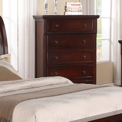 Jenna 5 Drawer Chest Color: Cherry