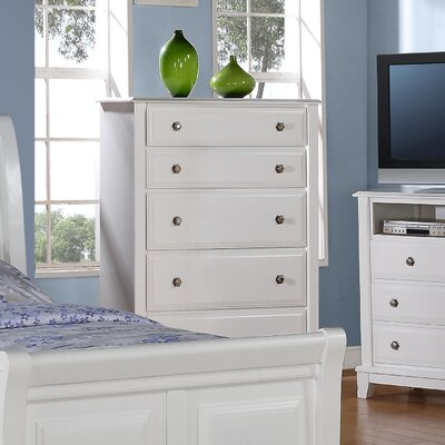 Sera 5 Drawer Standard Chest Finish: White