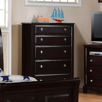 Sera 5 Drawer Standard Chest Color: Cappuccino