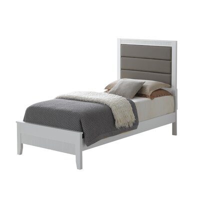 Archambault Upholstered Panel Bed Size: Twin, Color: White
