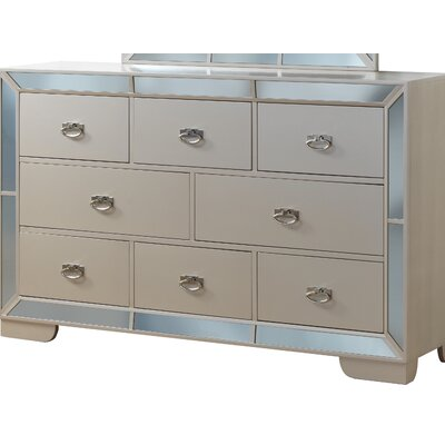 Jemma 8 Drawer Standard Dresser Color: Pearl