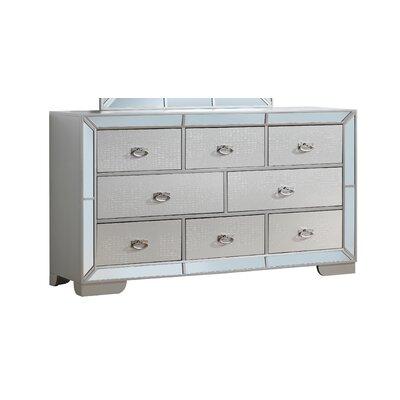 Jemma 8 Drawer Standard Dresser Color: Gray