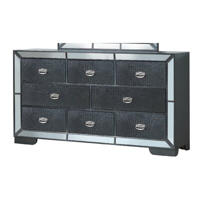 Jemma 8 Drawer Standard Dresser Color: Black