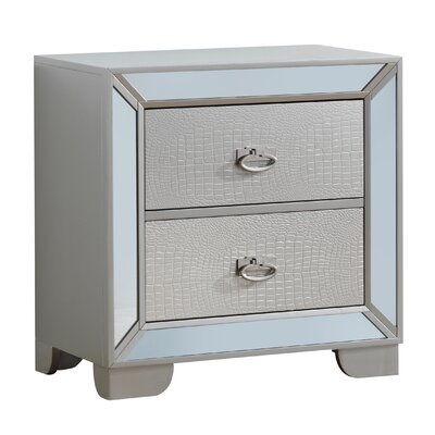 Jemma 2 Drawer Nightstand Color: Gray