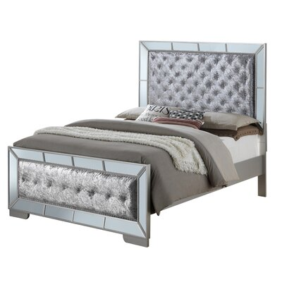 Jemma Full/Double Upholstered Panel Bed Color: Gray, Size: Full