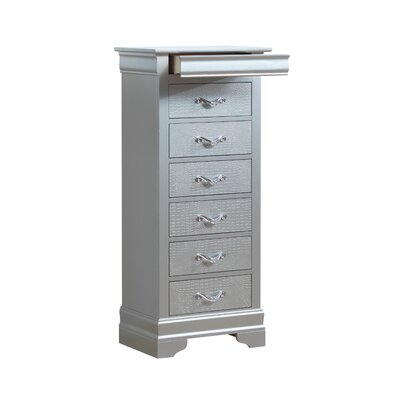 Paignton 7 Drawer Lingerie Chest Color: Silver Champagne