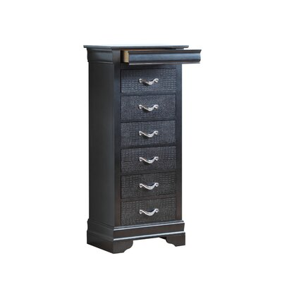 Paignton 7 Drawer Lingerie Chest Color: Charcoal