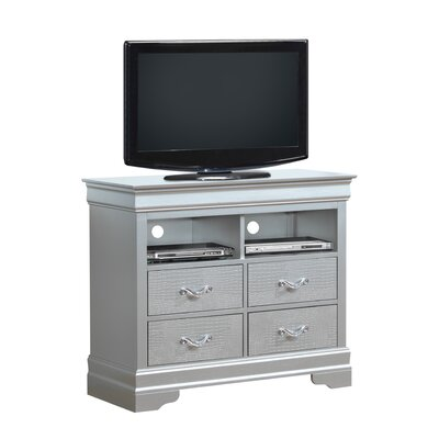 Paignton 4 Drawer Media Chest Color: Silver Champagne