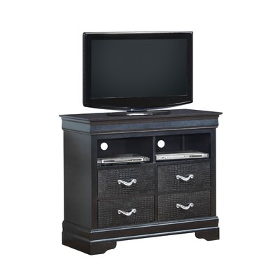 Paignton 4 Drawer Media Chest Color: Charcoal