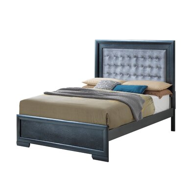 Aguilera Foam Upholstered Panel Bed Size: King, Color: Charcoal