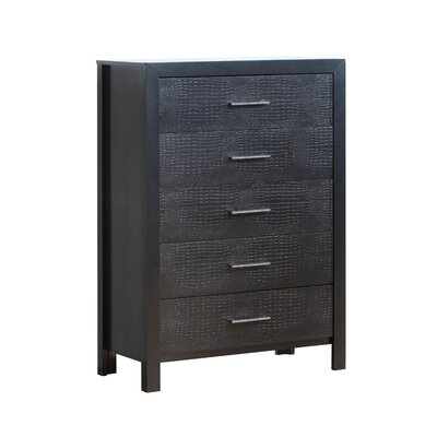 Raye 5 Drawer Chest Color: Charcoal