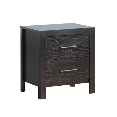 Raye 2 Drawer Nightstand Color: Charcoal