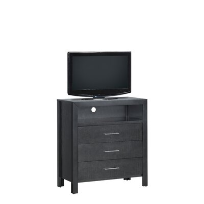 Raye TV Media 3 Drawer Chest Color: Charcoal