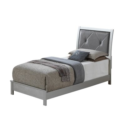 Raye Upholstered Panel Bed Size: Full, Color: Charcoal