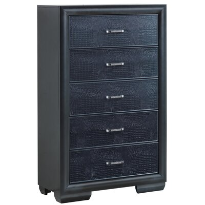 Aguilera 8 Drawer Chest Color: Charcoal