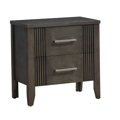 Archambault 2 Drawer Nightstand