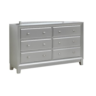 Aniya 4 Drawer Double Dresser Color: Silver Champagne