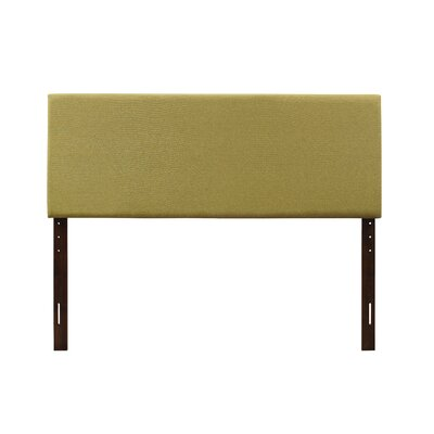 Albermarle Upholstered Panel Headboard Size: Queen, Upholstery: Antique Gold