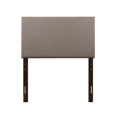 Albermarle Upholstered Panel Headboard Size: Twin, Upholstery: Light Brown