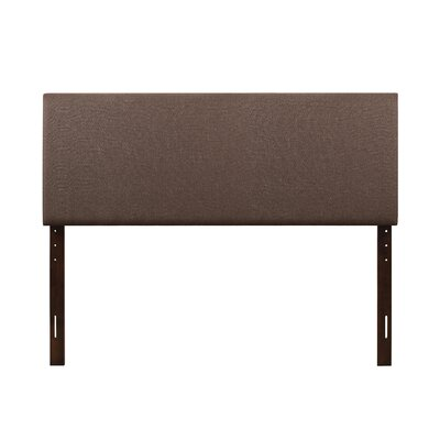 Albermarle Upholstered Panel Headboard Size: Full, Upholstery: Brown