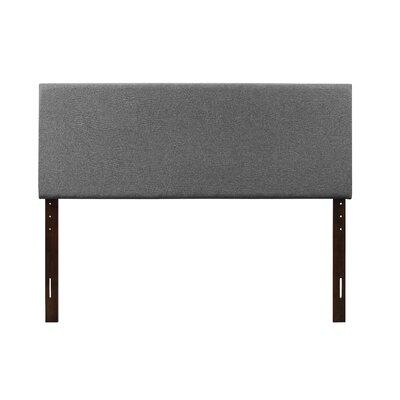 Albermarle Upholstered Panel Headboard Size: Full, Upholstery: Gray