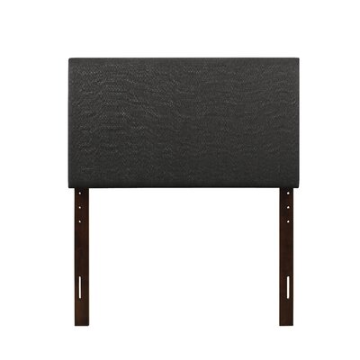 Albermarle Upholstered Panel Headboard Size: Queen, Upholstery: Charcoal Black