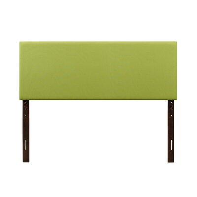 Albermarle Upholstered Panel Headboard Size: Twin, Upholstery: Green