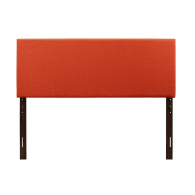 Albermarle Upholstered Panel Headboard Size: Full, Upholstery: Orange